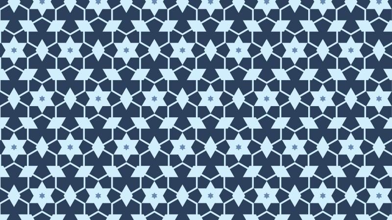 Blue Star Pattern Background Illustration
