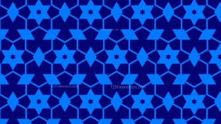 Royal Blue Seamless Star Pattern Background Vector Graphic