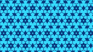 Blue Seamless Star Background Pattern Vector Image