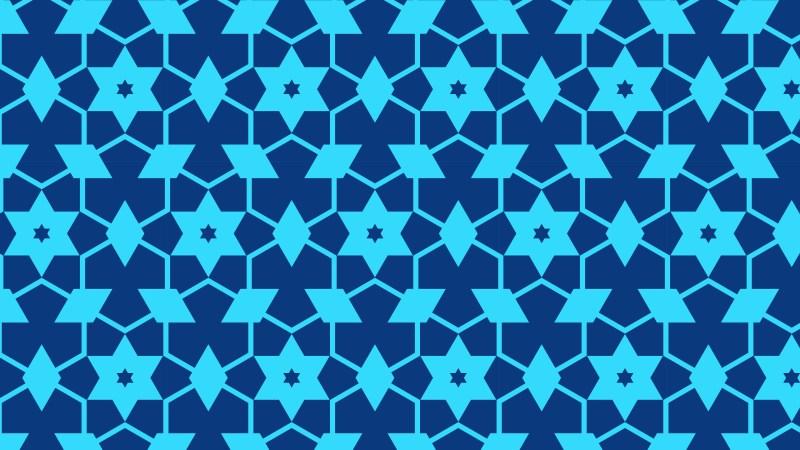 Blue Stars Pattern Illustrator