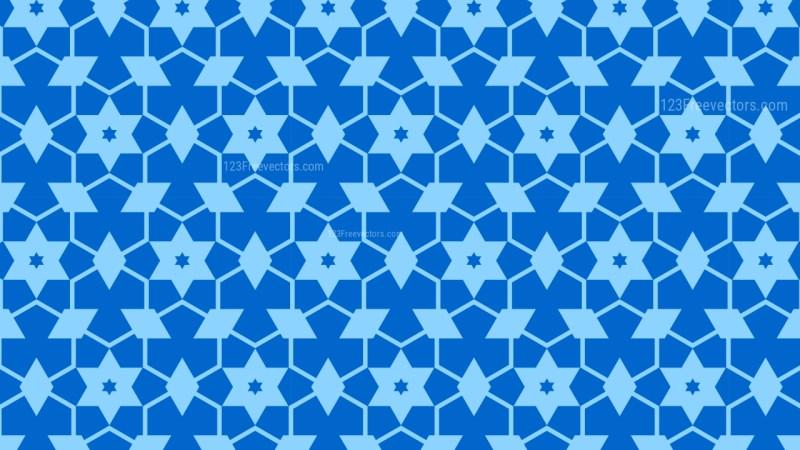Blue Stars Background Pattern Vector