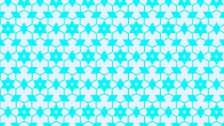 Cyan Seamless Stars Pattern Vector Art