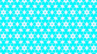Cyan Seamless Stars Pattern Background Graphic
