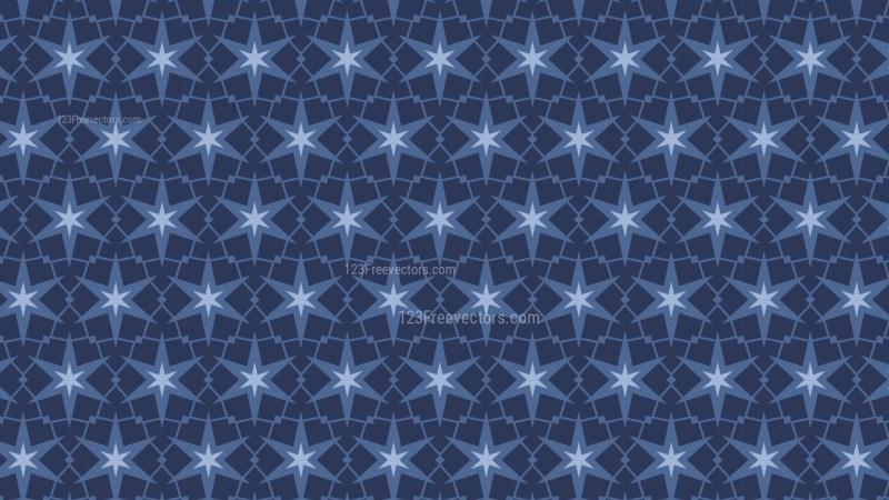 Dark Blue Star Pattern