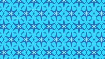 Blue Seamless Star Pattern Background