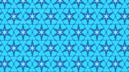 Blue Seamless Star Pattern Background