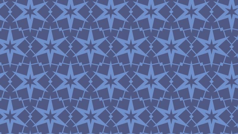 Blue Seamless Stars Pattern
