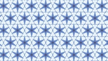 Light Blue Seamless Stars Background Pattern