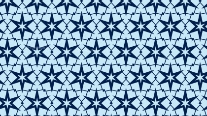 Blue Star Pattern Vector Graphic