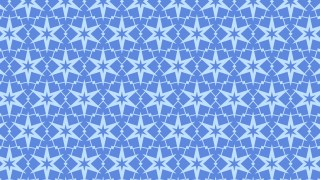Blue Seamless Star Background Pattern Vector Art