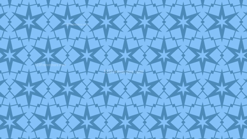 Blue Stars Background Pattern Design