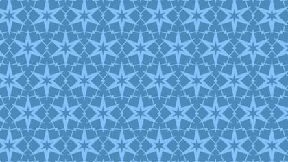 Blue Seamless Stars Pattern Image