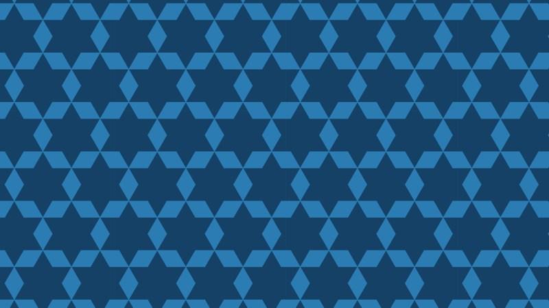 Dark Blue Seamless Star Background Pattern