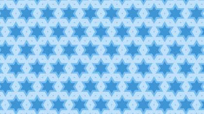 Light Blue Seamless Stars Pattern