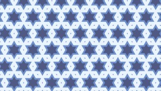 Blue Seamless Stars Background Pattern