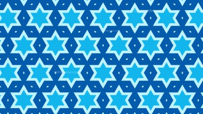 Blue Star Pattern Vector