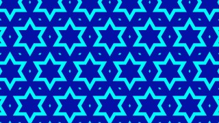 Cobalt Blue Seamless Star Pattern Illustration