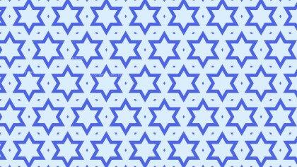 Light Blue Seamless Star Pattern Background Design