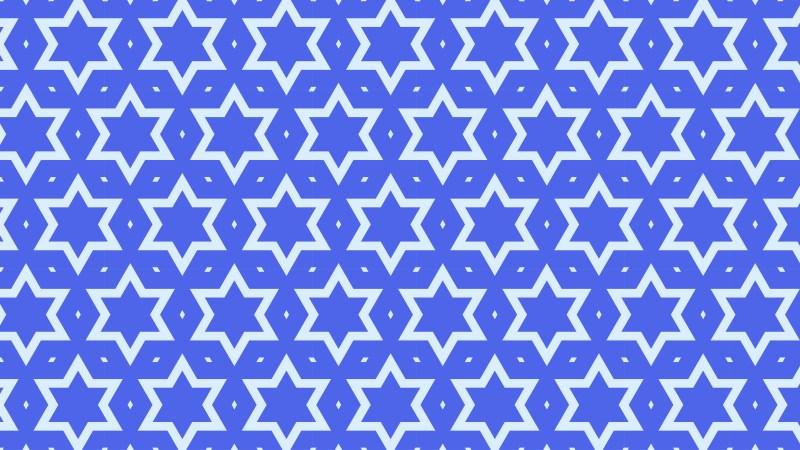 Cobalt Blue Seamless Star Background Pattern Image