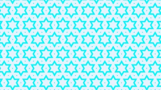 Cyan Stars Background Pattern Illustrator