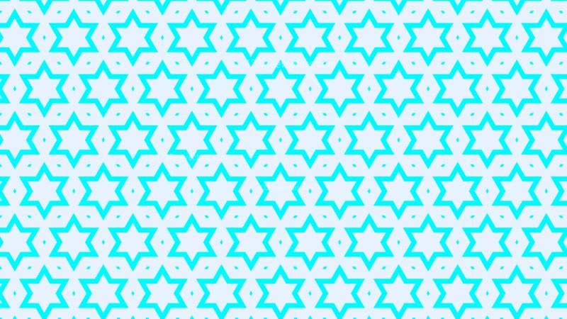 Cyan Stars Background Pattern Illustrator