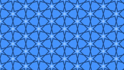 Blue Seamless Stars Background Pattern Vector Art