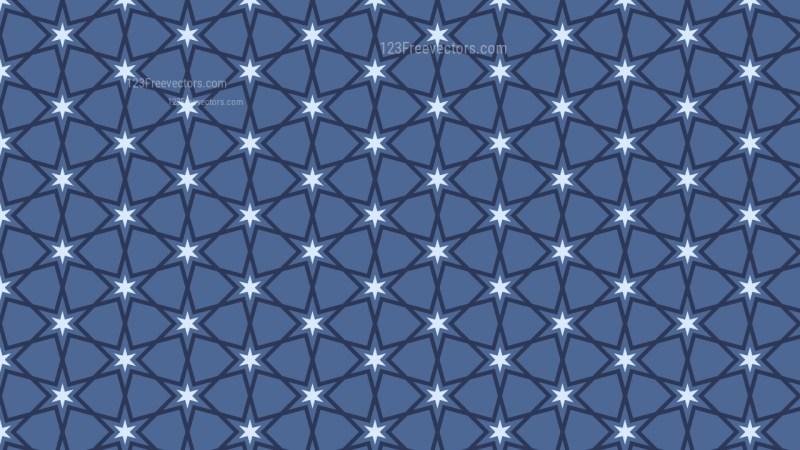 Dark Blue Seamless Star Pattern Background