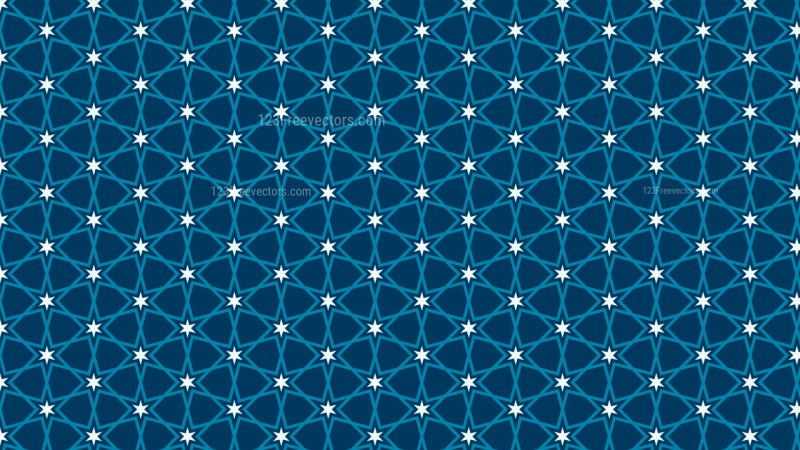 Dark Blue Stars Background Pattern