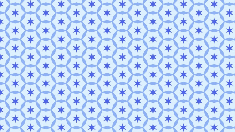 Blue Seamless Stars Pattern Illustration