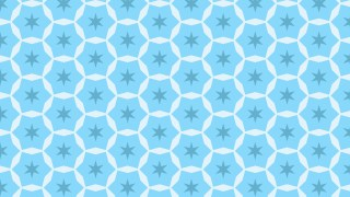 Baby Blue Seamless Stars Pattern Background Design