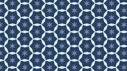 Dark Blue Star Pattern
