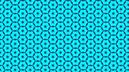 Turquoise Seamless Star Background Pattern