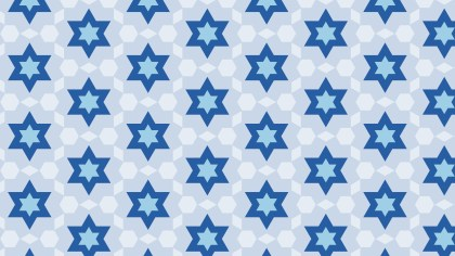 Blue Seamless Stars Pattern