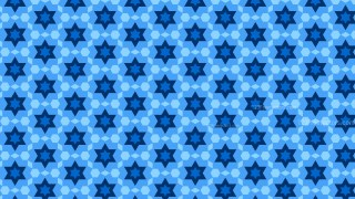 Blue Seamless Stars Pattern Background