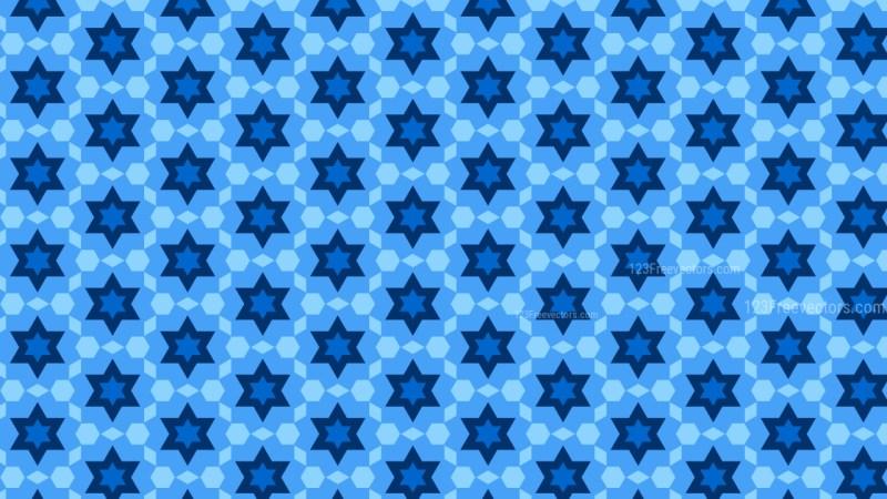 Blue Seamless Stars Pattern Background