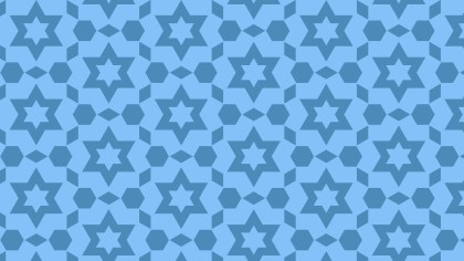 Blue Star Pattern Background Vector Illustration