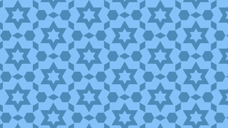Blue Star Pattern Background Vector Illustration