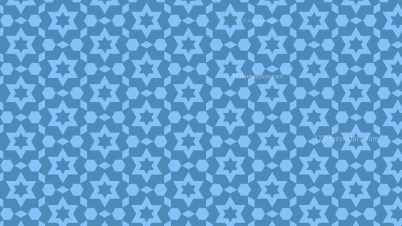 Blue Star Background Pattern Vector
