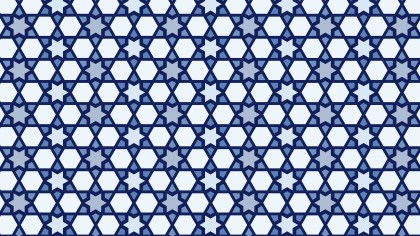 Blue Seamless Star Pattern Vector Art