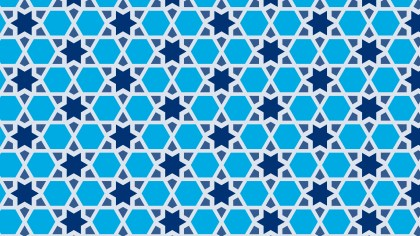 Blue Seamless Star Pattern Background Graphic