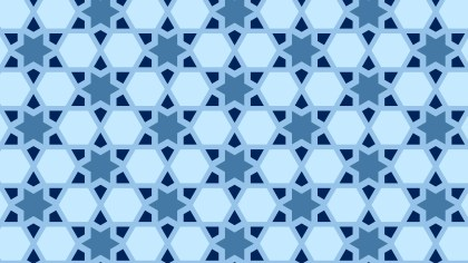 Blue Seamless Star Background Pattern Illustration