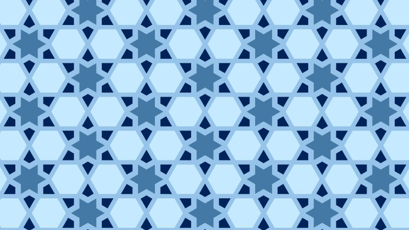 Blue Seamless Star Background Pattern Illustration