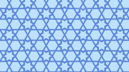 Light Blue Stars Pattern Design