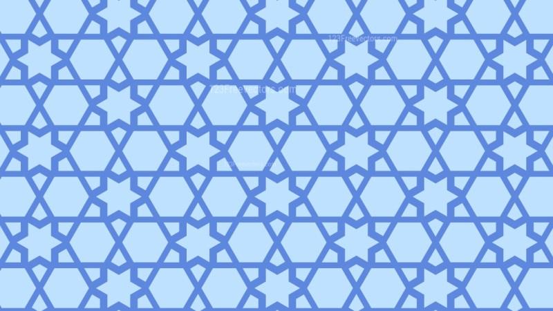 Light Blue Stars Pattern Design