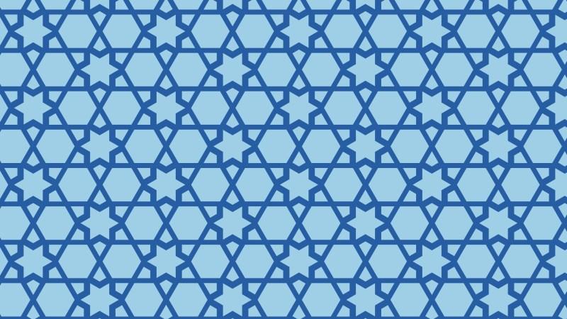 Blue Stars Pattern Background Image