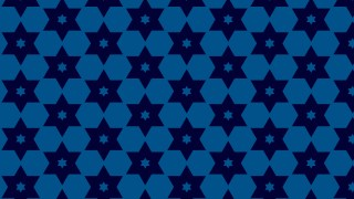 Navy Blue Seamless Stars Pattern Vector Image