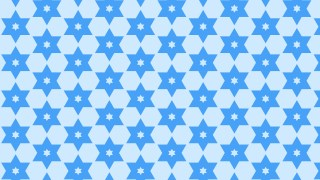 Blue Seamless Stars Pattern Background Illustrator