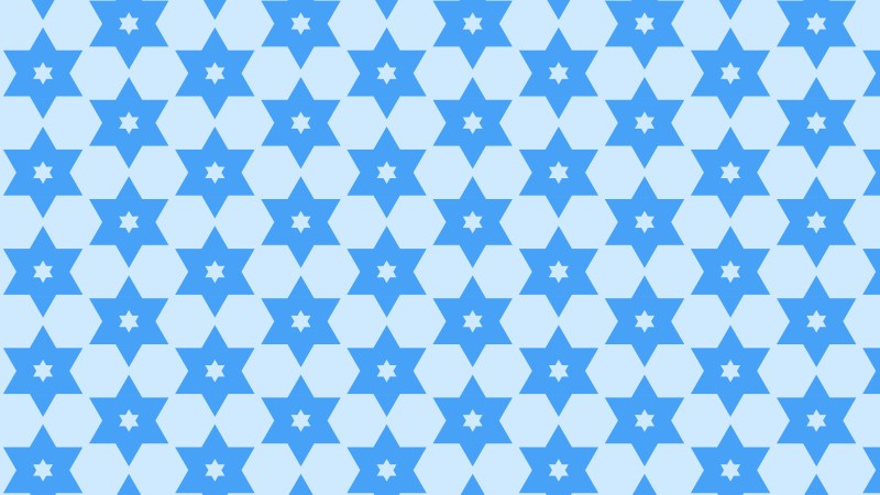 Blue Seamless Stars Pattern Background Illustrator