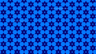 Royal Blue Seamless Stars Background Pattern Vector Illustration