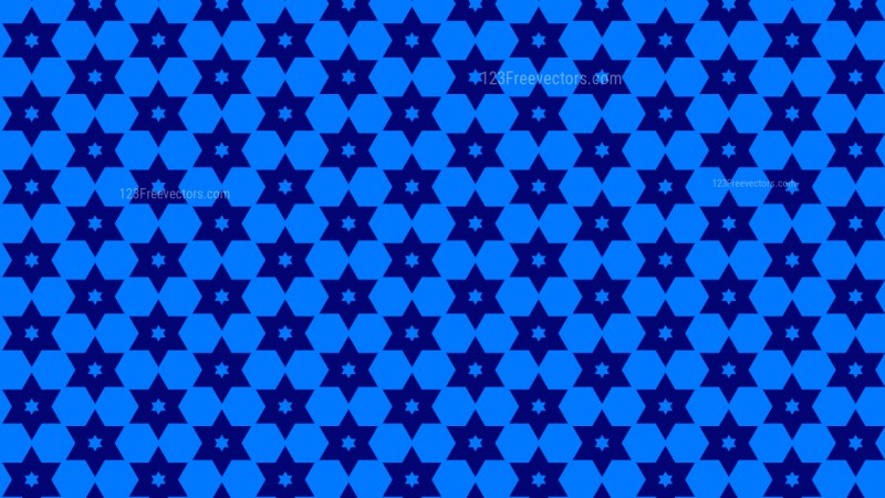 Royal Blue Seamless Stars Background Pattern Vector Illustration